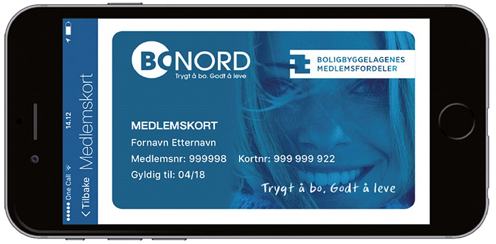 Digitalt medlemskort.